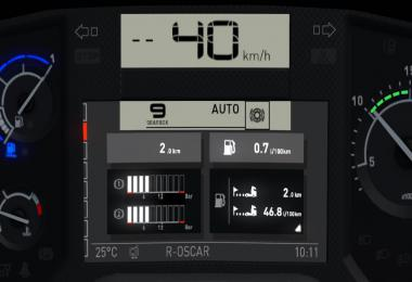 Renault T Realistic Dashboard Computer v1.0