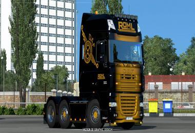 ROML Cargo Logistics Special DAF XF105 Skin v1.0