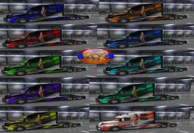 Volvo truck VNL 2018 Skin Pack Metallic Racing v3.0