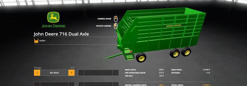 John Deere 716 Dual Axle Forage Box v1.0