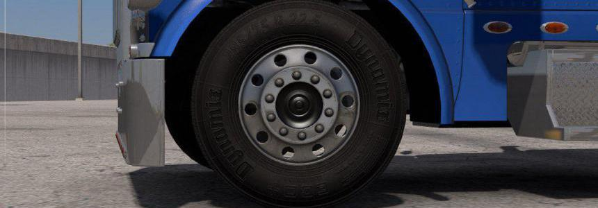 Dark Textures for Stock Truck & Owned Trailers Tires v1.0