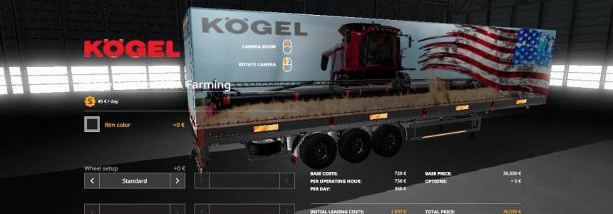 USA FARMING KOGEL AUTOLOADER TRAILER v1.0