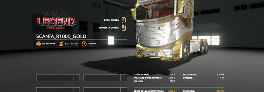 FS19 SCANIA R1000 GOLD v2.0