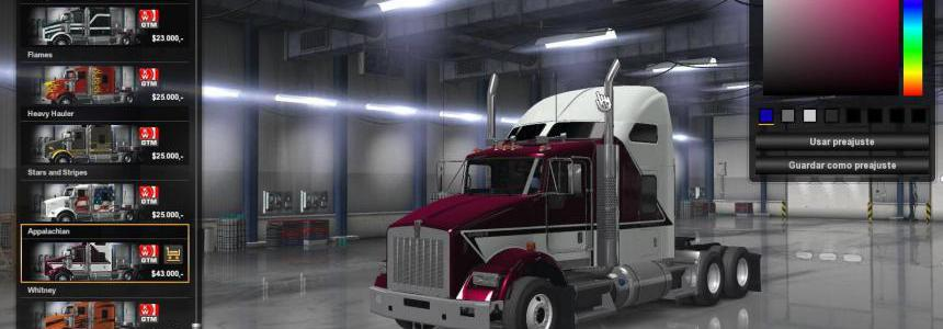 GTM Kenworth T800 ATS DX11 1.35