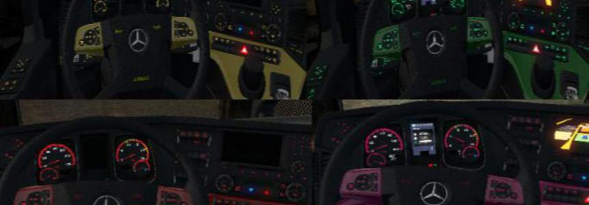 Mercedes Actros MP4 Colored Dashboard v2.0