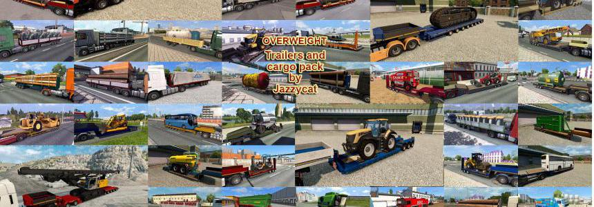 Overweight Trailers and Cargo Pack by Jazzycat v8.1