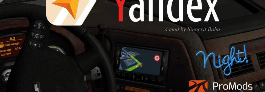 Yandex Navigator Night Version for ProMods v1.2