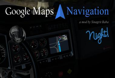 [ATS] Google Maps Navigation Night Version v1.9