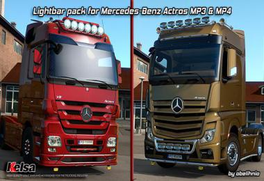 Kelsa lightbars for Mercedes-Benz Actros MP3 & MP4 1.36.x