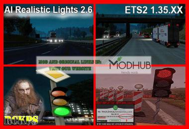 AI Realistic lights v2.6 for ETS2 1.35.x