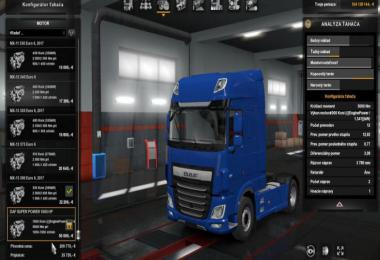 DAF XF EURO 6 – 1000 HP Engine 1.35.x