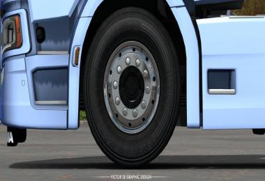 Dark Textures for Stock Truck & Owned Trailers Tires 1.35.x