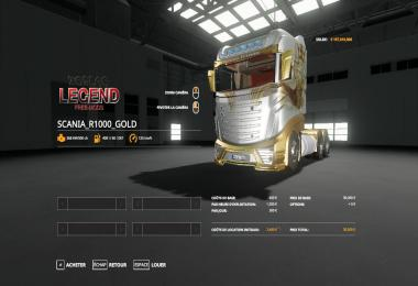 FS19 SCANIA R1000 GOLD v2.0