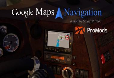 Google Maps Navigation for ProMods v2.1
