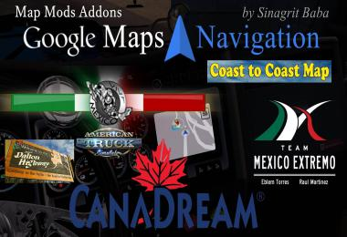 Google Maps Navigation Normal & Night Map Mods Addons v6.0