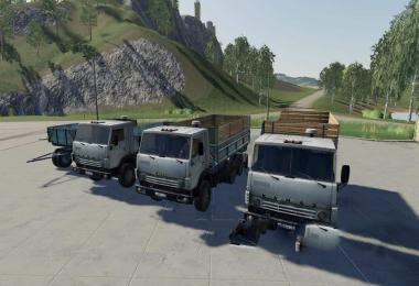 Kamaz 5320 and trailer GBK-8551 v2.1