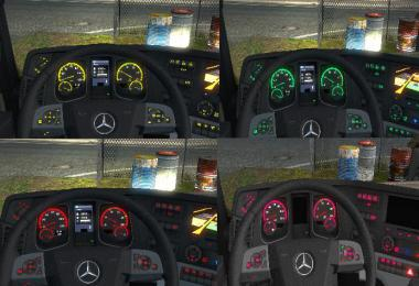 Mercedes Actros MP4 Colored Dashboard 1.35.x