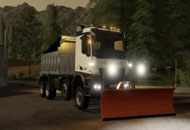 Mercedes Arocs winter service + snowfall v1.0
