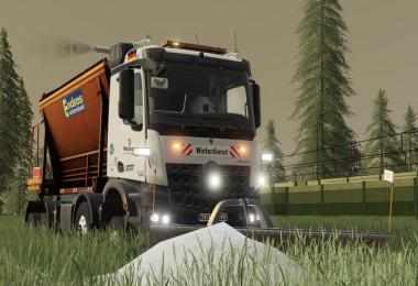 Mercedes Arocs winter service + snowfall v2.0