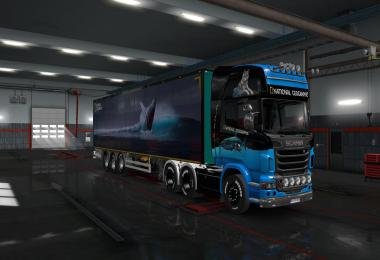 National Geographic Paintjob ETS2 1.35.x