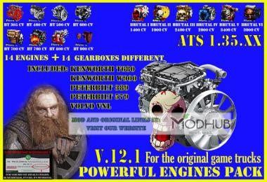 Pack Powerful engines + gearboxes v12.1 for ATS 1.35.x