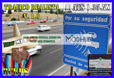 Realistic traffic v1.0 for ATS 1.35 by Rockeropasiempre