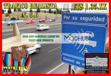 Realistic traffic v5.6 by Rockeropasiempre for 1.35.x