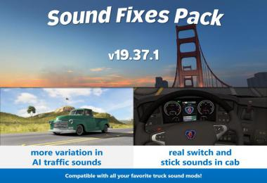 Sound Fixes Pack v19.37.1 ATS 1.36 beta