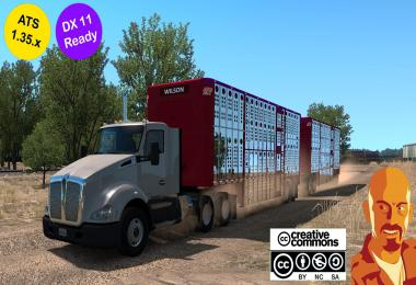 WILSON LIVESTOCK TRAILERS REWORKED ATS 1.35.x