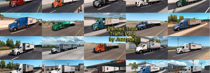 Painted Truck Traffic Pack by Jazzycat v3.0