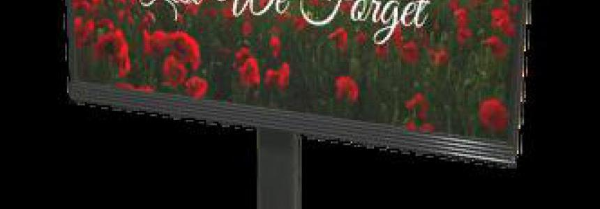 FS19 Placeable Remembrance Day Billboard v1.0