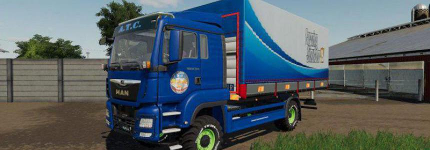 Man Tgs Trucks With Flatbed And Tarpaulin v1.1.1