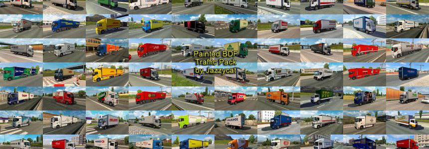 Painted BDF Traffic Pack by Jazzycat v6.6