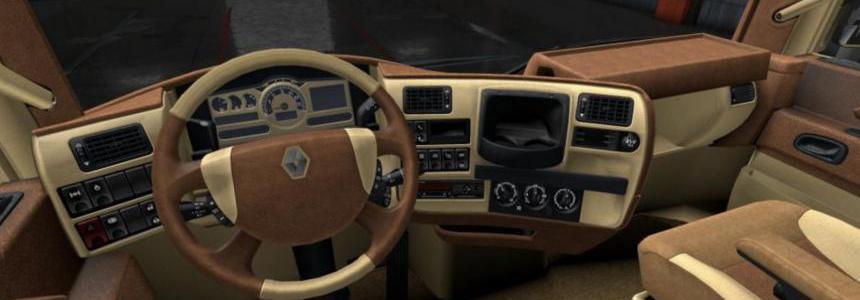 Renault Magnum Light Brown Leather Interior 1.36.x