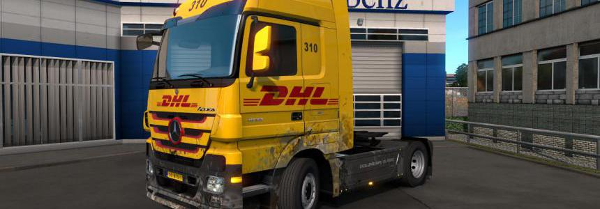 Skin DHL for Mercedes-Benz MP3 1.35.x
