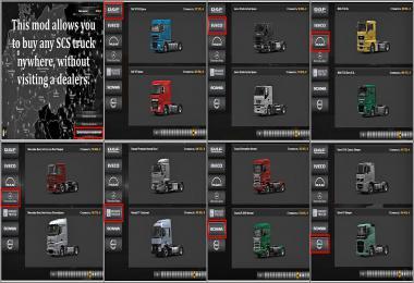 ETS2 SCS truck dealer 1.36.x