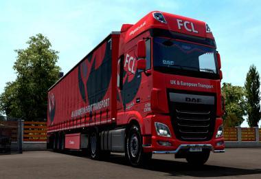 First Call Logistics DAF and trailer Skin v1.0