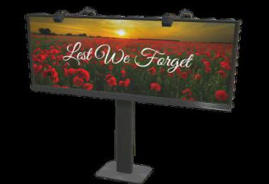 FS19 Placeable Remembrance Day Billboard v1.0