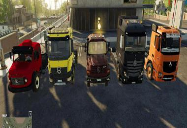 Mods Pack - Mercedes Trucks Pack v1.0