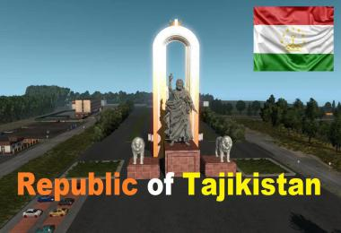 Map of the Republic of Tajikistan v1.0 1.36.x