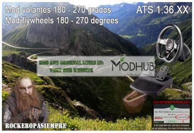 Mod for steering wheel 180-270 Degrees ATS 1.36.x