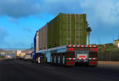 Platform Doepker Flatbed Trailer in ownership 1.36