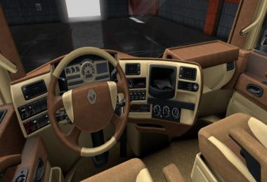 Renault Magnum Light Brown Leather Interior 1.36.x