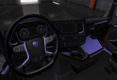 Scania S & R Black - Purple Interior 1.36.x