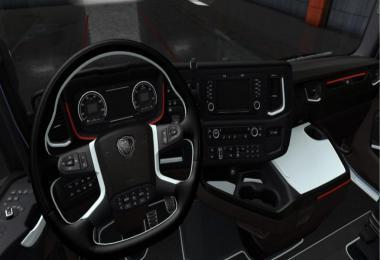 Scania S & R Black - White Interior 1.36.x