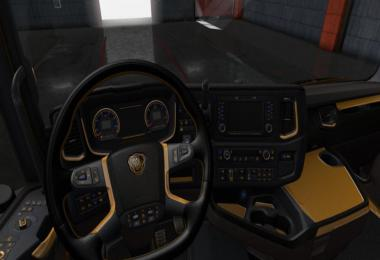 Scania S & R Black - Yellow Interior 1.36.x