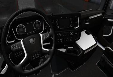 Scania S & R White - Black Interior 1.36.x