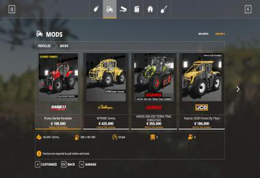 Tracteurs forestier Pack v1.0