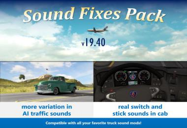 Sound Fixes Pack v19.40.1 ATS 1.36