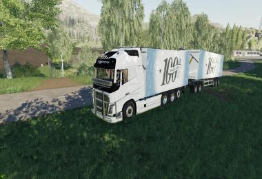 Volvo Fh16 Woodchip and trailer v1.1